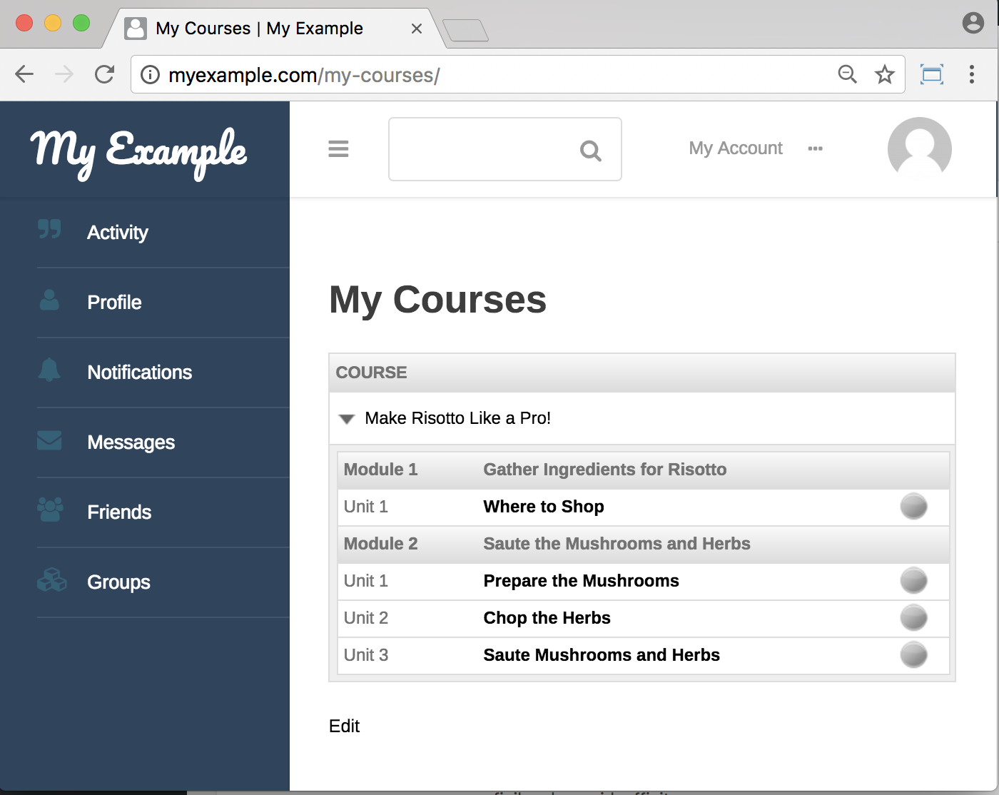 WP Courseware Plugin- frontend Courses