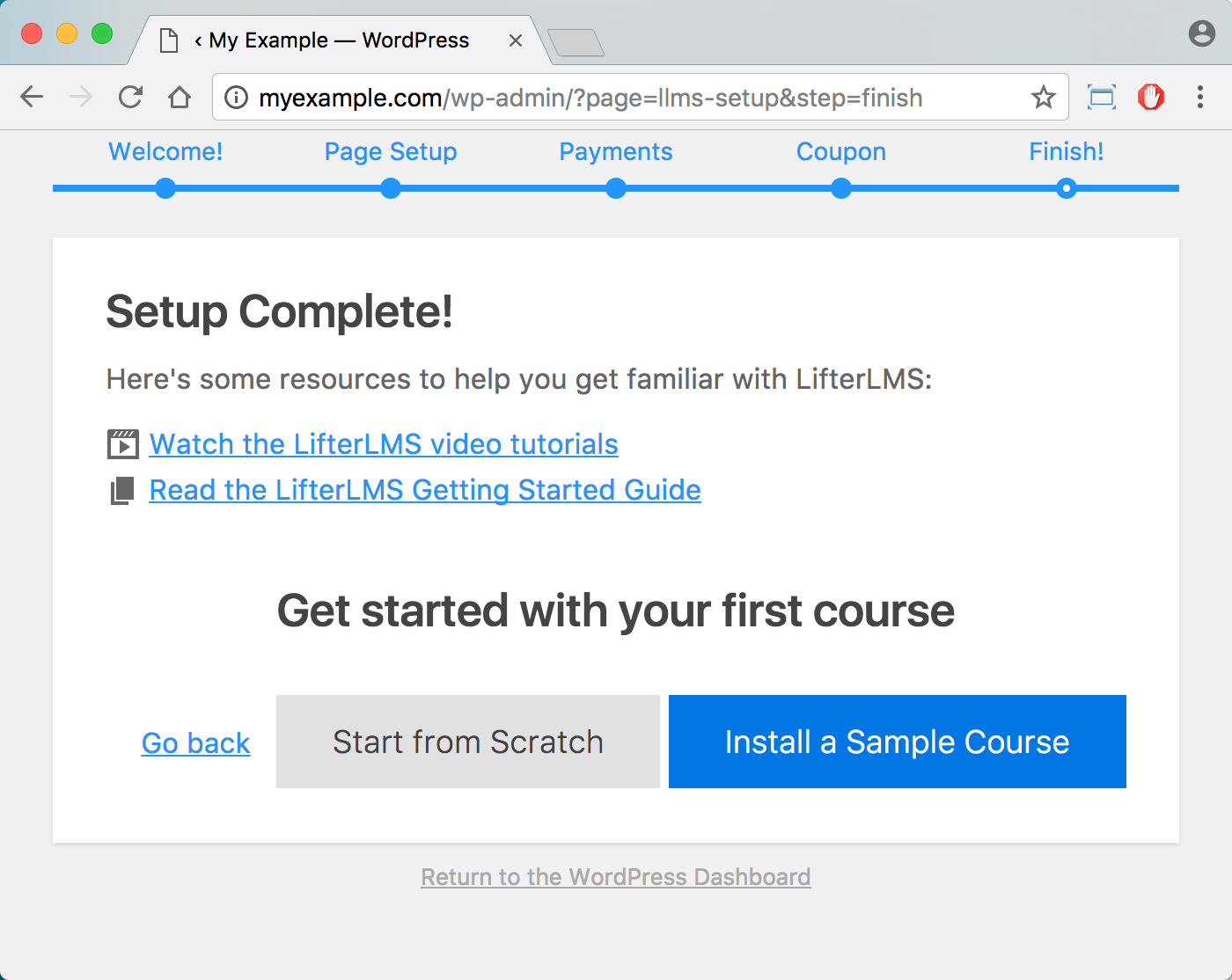 LifterLMS WordPress Plugin Pro – Setup Wizard 5